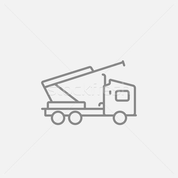 Maszyny Żuraw line ikona internetowych komórkowych Zdjęcia stock © RAStudio