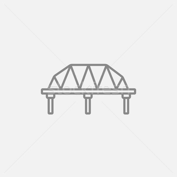 Rail manera puente línea icono web Foto stock © RAStudio
