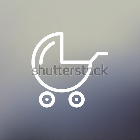 Baby stroller line icon. Stock photo © RAStudio