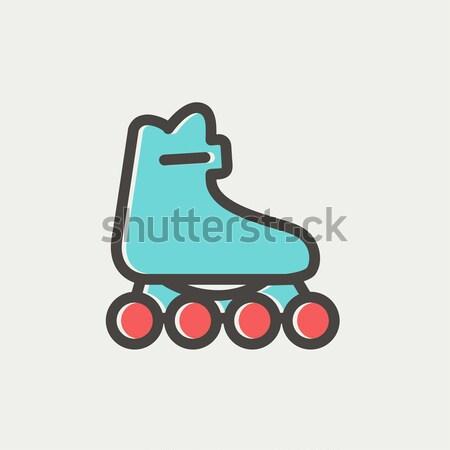 Roller skate line icon. Stock photo © RAStudio