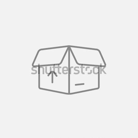 カートン パッケージ ボックス 行 アイコン オープン ストックフォト © RAStudio