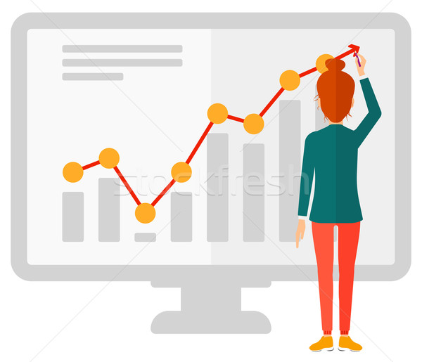 Business woman presenting report. Stock photo © RAStudio