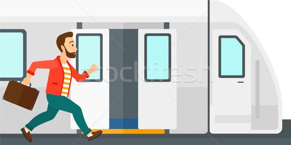 Man missing train. Stock photo © RAStudio
