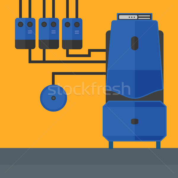 Stock photo: Background of domestic household boiler room.