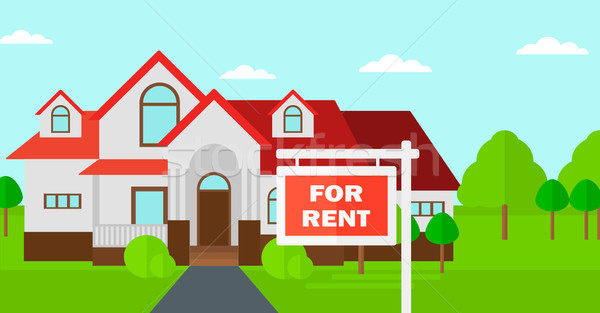 Background of house with for rent real estate sign. Stock photo © RAStudio