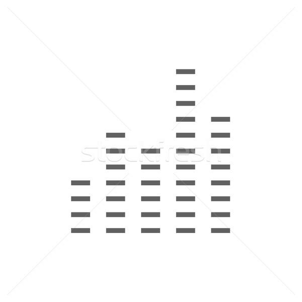 Digital ecualizador línea icono esquinas web Foto stock © RAStudio