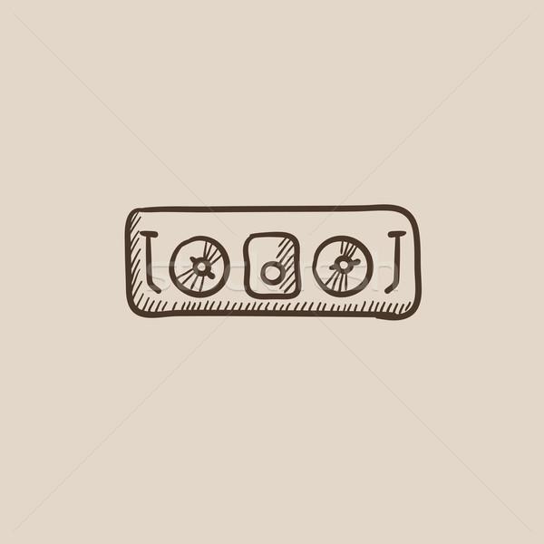 Konzol rajz ikon háló mobil infografika Stock fotó © RAStudio