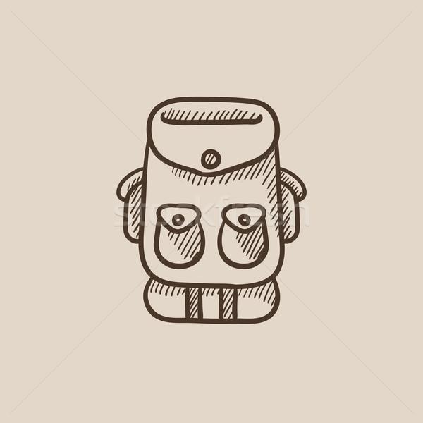 Backpack sketch icon. Stock photo © RAStudio