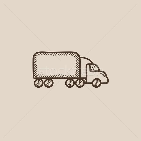 Delivery truck sketch icon. Stock photo © RAStudio