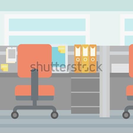 Escritório local de trabalho vetor projeto ilustração vertical Foto stock © RAStudio