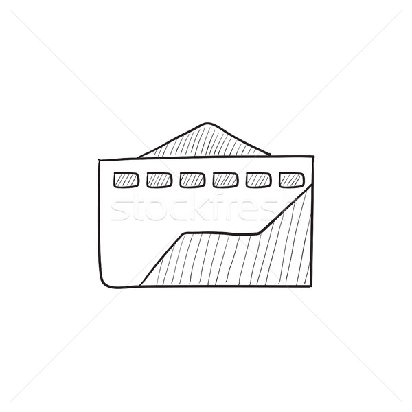 Fábrica esboço ícone vetor isolado Foto stock © RAStudio