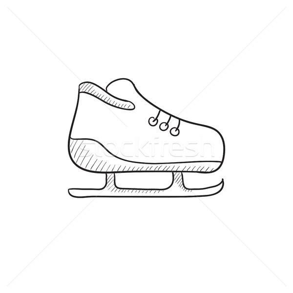 Skate sketch icon. Stock photo © RAStudio
