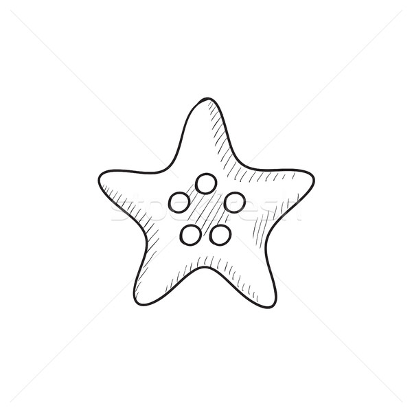 Starfish sketch icon. Stock photo © RAStudio