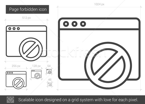 Page forbidden line icon. Stock photo © RAStudio