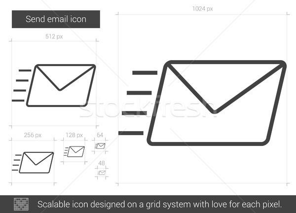 Enviar e-mail linha ícone vetor isolado Foto stock © RAStudio