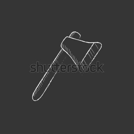Ax sketch icon. Stock photo © RAStudio
