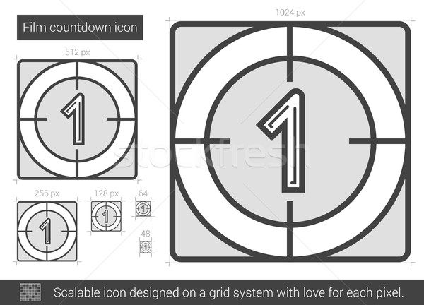 Film countdown line icon. Stock photo © RAStudio