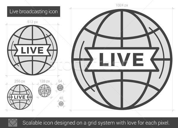Live broadcasting line icon. Stock photo © RAStudio