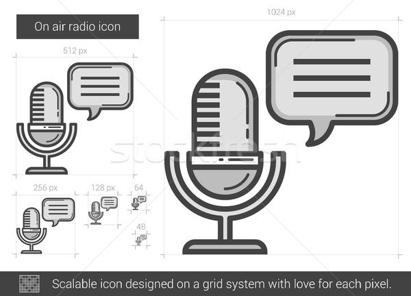 On air radio line icon. Stock photo © RAStudio