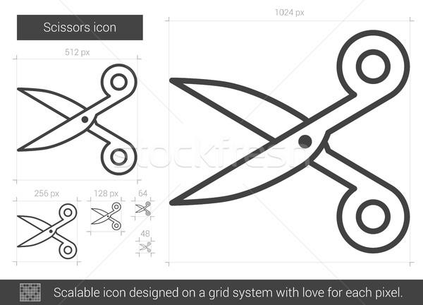 Scissors line icon. Stock photo © RAStudio