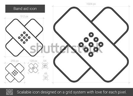 Stock photo: Band aid line icon.