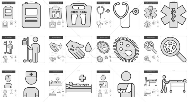 Medicine line icon set. Stock photo © RAStudio