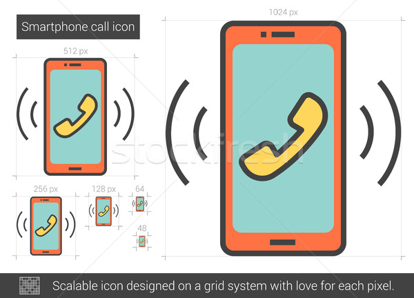 Smartphone line icon. Stock photo © RAStudio