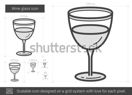 Vidrio brandy línea icono vector aislado Foto stock © RAStudio