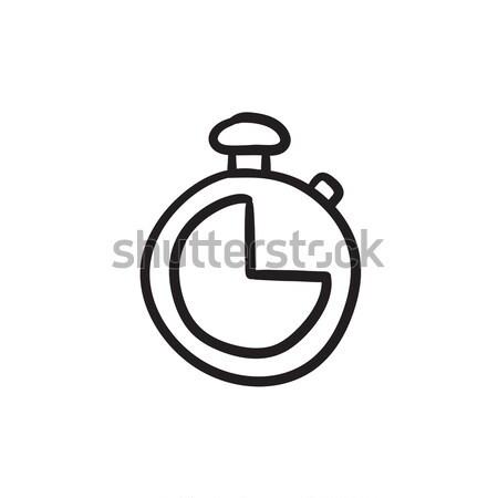 Cronógrafo boceto icono vector aislado dibujado a mano Foto stock © RAStudio