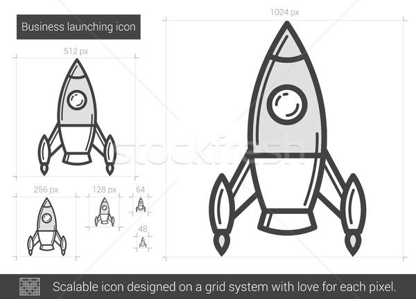 Business launching line icon. Stock photo © RAStudio
