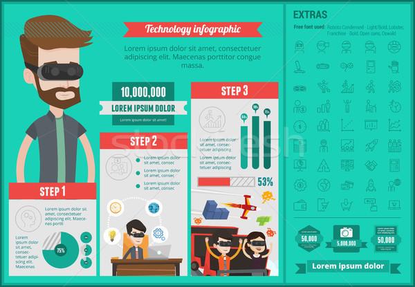 Technology infographic template. Stock photo © RAStudio