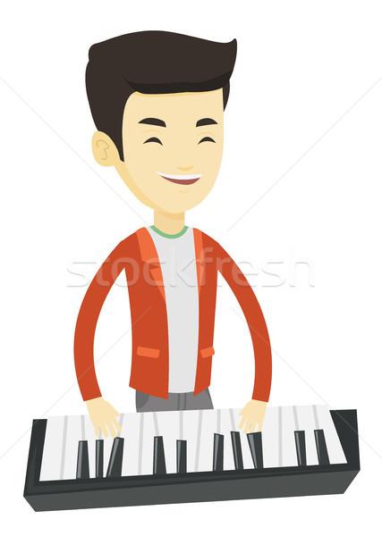 Man playing piano vector illustration. Stock photo © RAStudio