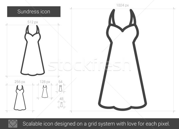 Sundress line icon. Stock photo © RAStudio