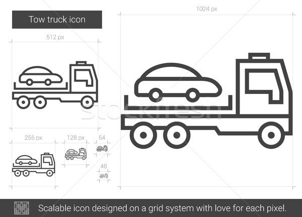 Tow truck line icon. Stock photo © RAStudio