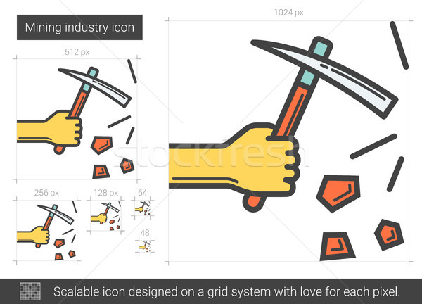 Mining industry line icon. Stock photo © RAStudio