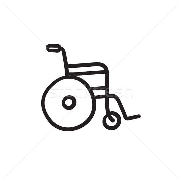Wheelchair sketch icon. Stock photo © RAStudio