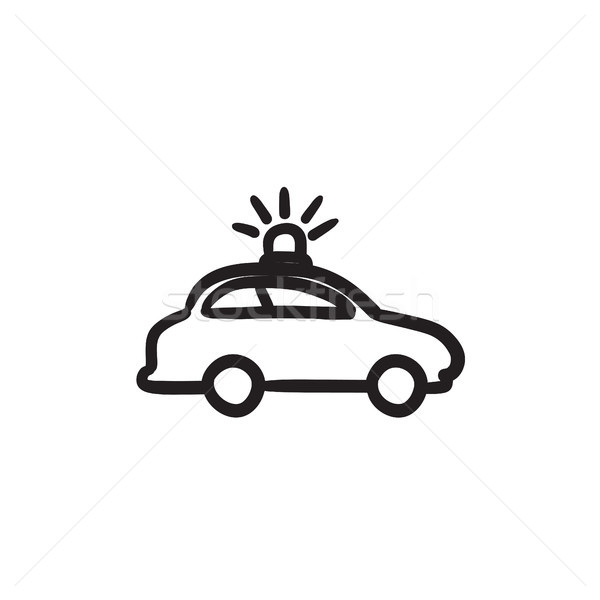 Politie auto schets icon vector geïsoleerd Stockfoto © RAStudio