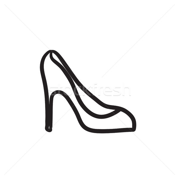 Heel shoe sketch icon. Stock photo © RAStudio