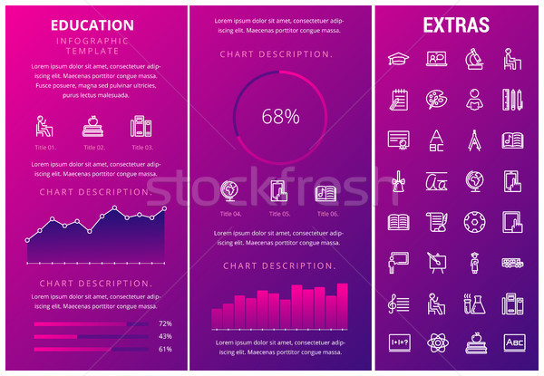 Education infographic template, elements and icons Stock photo © RAStudio