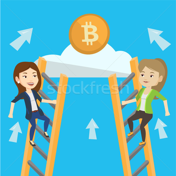Competition between initial coin offering projects Stock photo © RAStudio