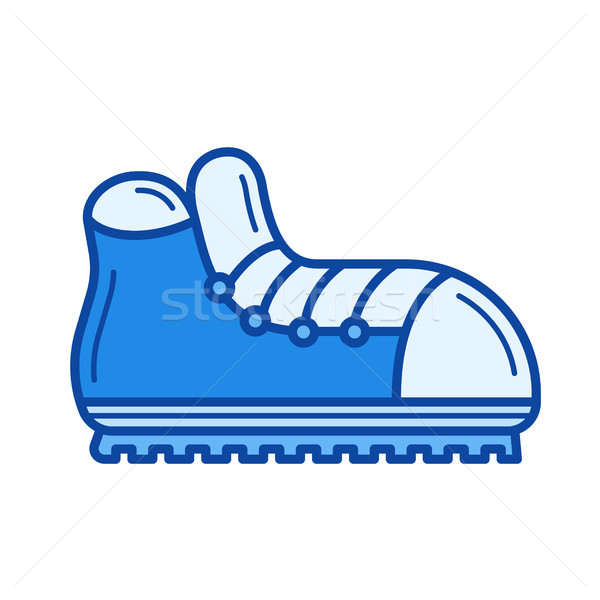 Hiking boots line icon. Stock photo © RAStudio
