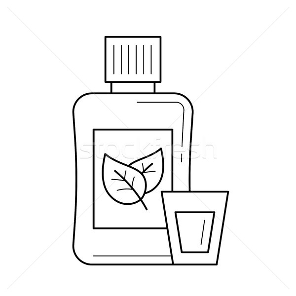 Mouthwash line icon. Stock photo © RAStudio