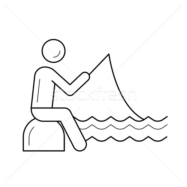 Fishing line icon. Stock photo © RAStudio