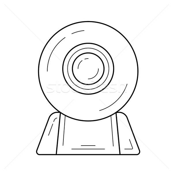 ウェブカメラ 行 アイコン ベクトル 孤立した 白 ストックフォト © RAStudio
