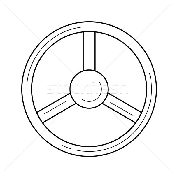 Volante line icona auto vettore isolato Foto d'archivio © RAStudio