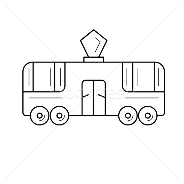 Streetcar tram line icon. Stock photo © RAStudio