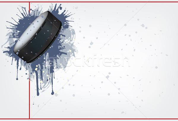 Hokey buz vektör bilgisayar grafik arka plan Stok fotoğraf © RAStudio