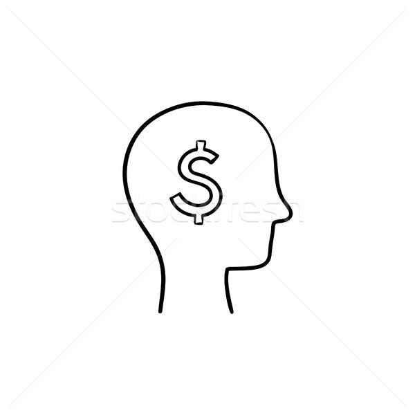 豊富な 脳 頭 手描き スケッチ アイコン ストックフォト © RAStudio