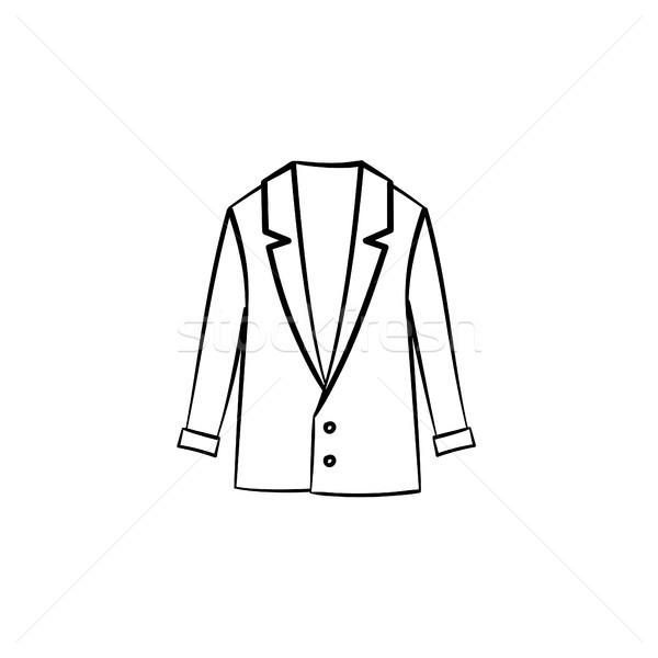 шерсти пальто рисованной эскиз икона Сток-фото © RAStudio