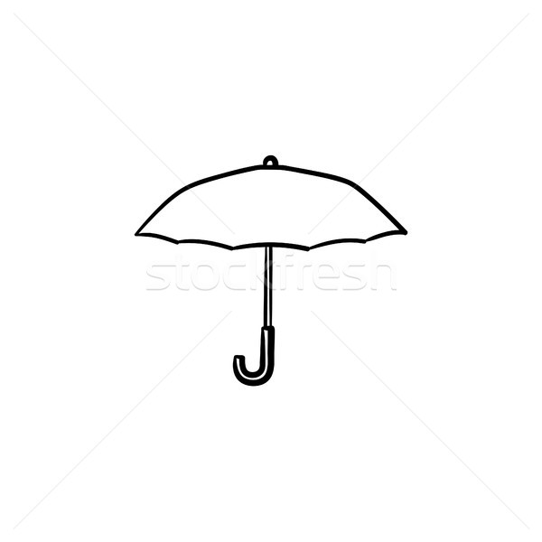 Umbrella hand drawn sketch icon. Stock photo © RAStudio